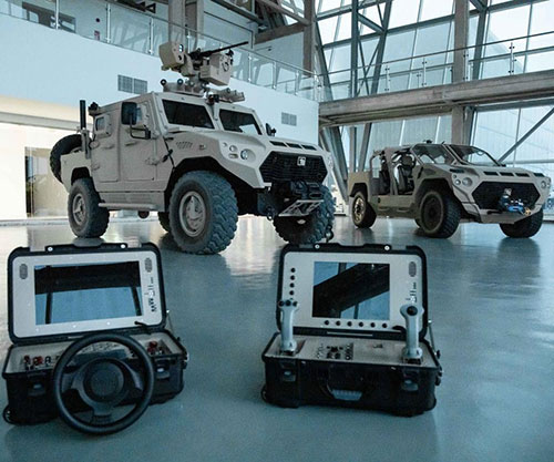 ADASI Unveils Armed Robotic Vehicle, Unmanned Ground Vehicles at IDEX