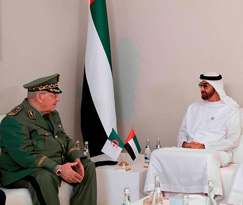 Abu Dhabi Crown Prince Receives Algerian Deputy Defense Minister