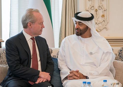 Abu Dhabi Crown Prince Receives Chairman & CEO of Raytheon