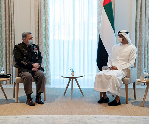 Abu Dhabi Crown Prince Receives Chairman of U.S. Joint Chiefs of Staff