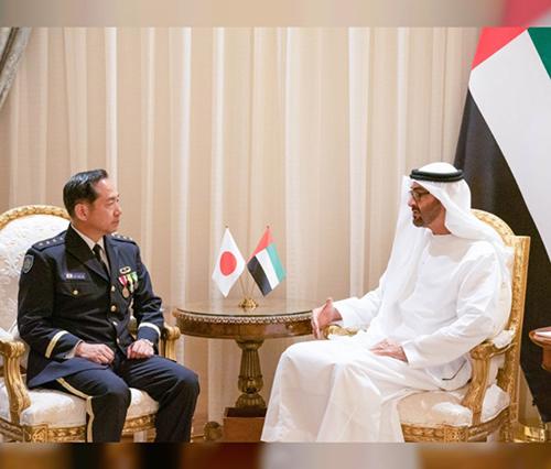 Abu Dhabi Crown Prince Receives Japan's Chief-of-Staff