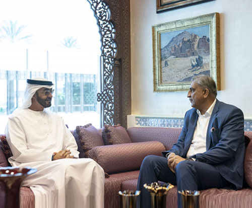 Abu Dhabi Crown Prince Receives Pakistan's Chief of Staff