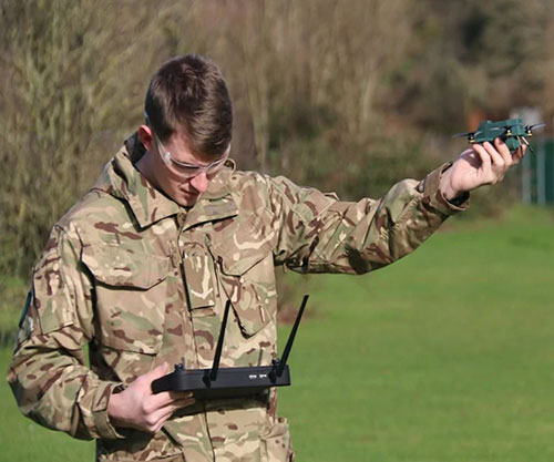 BAE Systems-UAVTEK Deliver First 30 Nano 'Bug' Drones to British Army