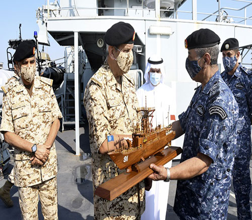 Bahrain's Commander-in-Chief Inspects 'RBNS Al-Zubara' Patrol Warship