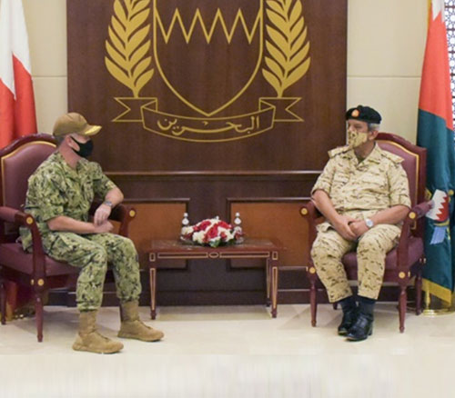 Bahrain's Commander-in-Chief Receives New US 5th Fleet Commander