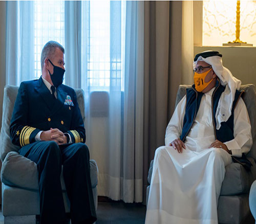 Bahrain's Crown Prince Receives Commander of US 5th Fleet