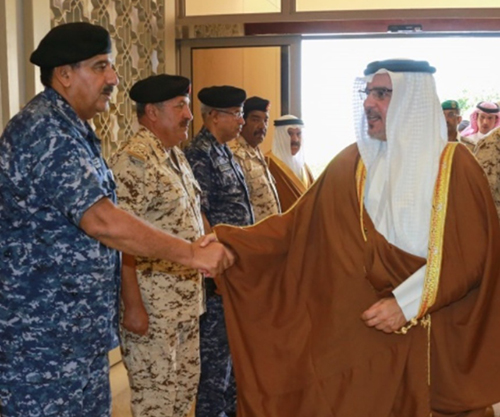 Bahrain's Crown Prince Visits Defense Force General Command