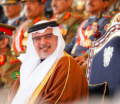 Bahrain's Deputy King Attends Isa Royal Military College Graduation