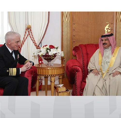 Bahrain's King Receives New Head of US Naval Forces Central Command