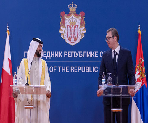 Bahrain's Royal Guard Commander Attends Military Parade in Serbia