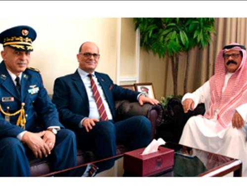 Bahrain Defense Minister, BDF Chief Receive Tunisian Military Attaché