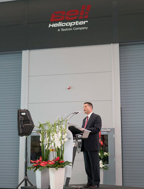 Bell Helicopter Opens New Paint Facility & Delivery Center in Prague