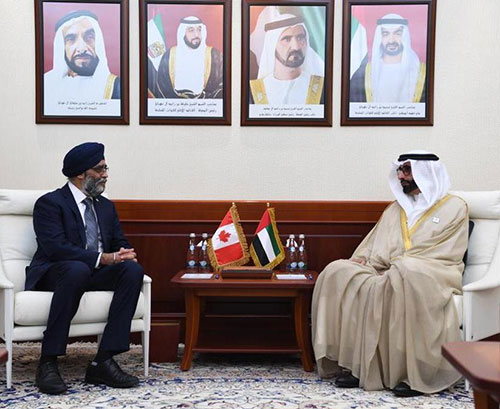 Canadian Minister of National Defense Visits UAE