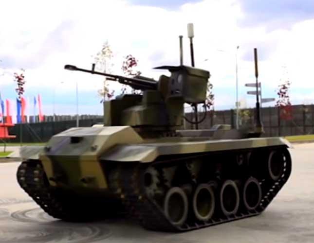 Russia Unveils Kamikaze Robotic Tank