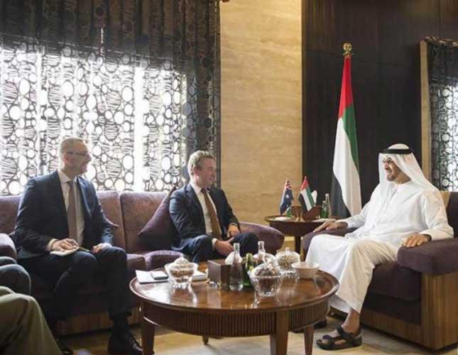 Abu Dhabi Crown Prince Meets Australian Defense Minister