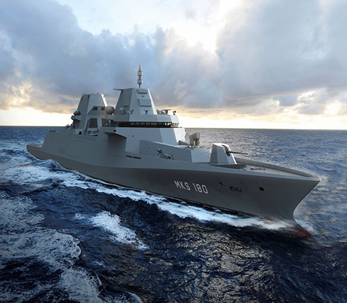 Damen to Build Four MKS-180 Frigates for German Navy