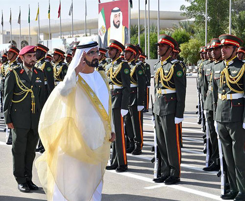 Dubai Ruler Attends Graduation of Zayed II Military College Officers