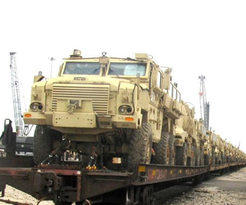 Egypt Receives 101 MRAP Armored Vehicles from US