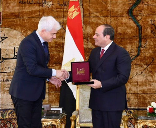Egyptian President Receives German Medal for Restoring Security