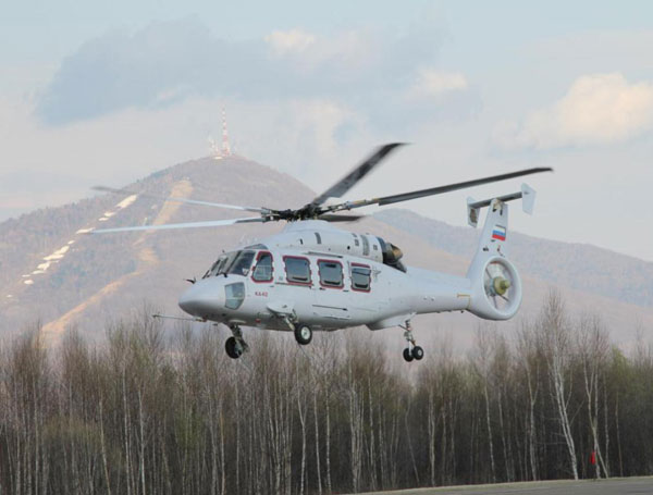First Prototype of Multirole Ka-62 Helicopter Takes to the Air