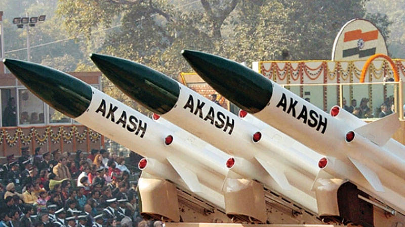India Test Fires Surface-to-Air Akash Missile