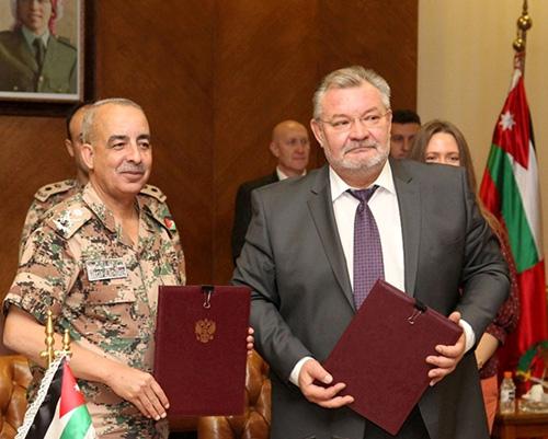 Jordan, Russia Sign Military Cooperation Memorandum