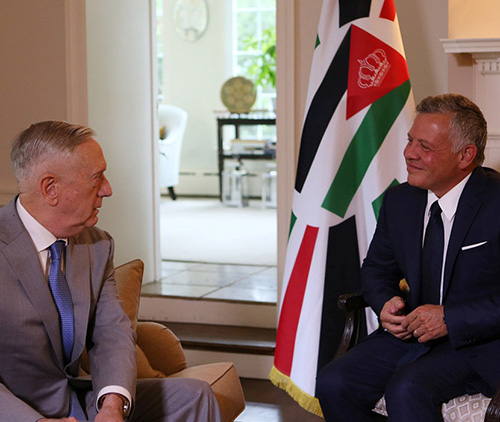 Jordanian King Meets US Secretary of Defence, National Security Adviser