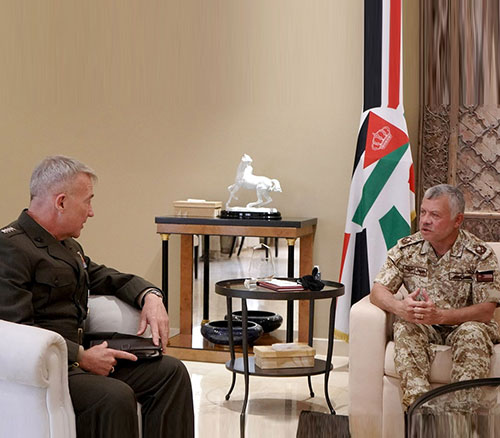 Jordanian King Receives US CENTCOM Commander