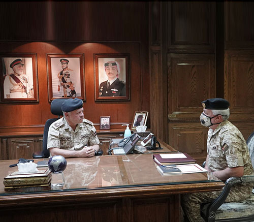 Jordanian King Visits Army General Command