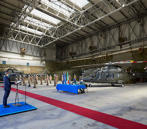 Leonardo Delivers First AW169 Training Helicopter to Italian Army