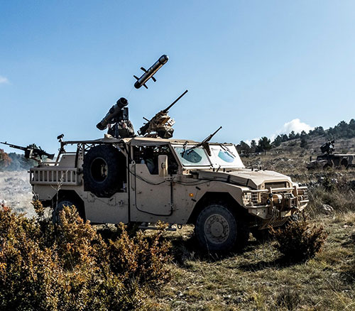 MBDA: First Firing of Medium-Range Missile from a Sabre Special Forces Vehicle