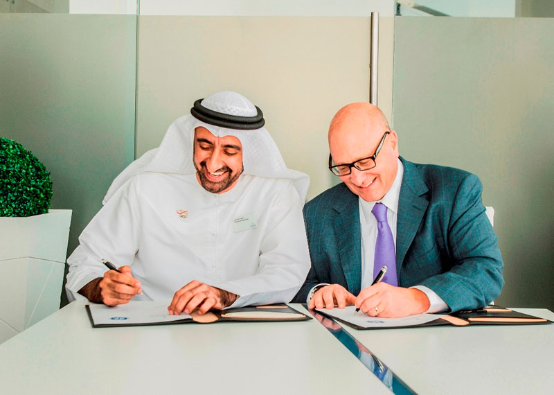 Mubadala, the Abu Dhabi-based investment and development company, and GE Aviation announced the signing of a Heads of Agreement for the formation of a GEnx engine MRO facility.