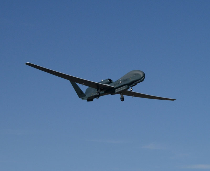 NATO Alliance Ground Surveillance Aircraft Takes Flight