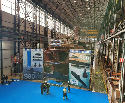 "Navantia Closes Resistant Hull of S81 ""Isaac Peral"" Submarine"