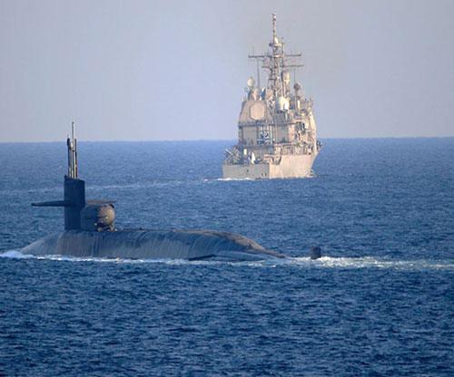 Nuclear Submarine USS Georgia Transits Strait of Hormuz