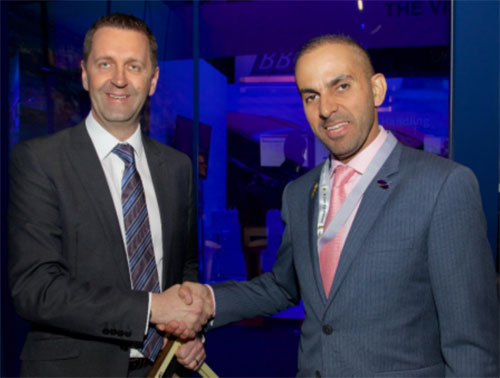 Mark Cooper of Lockheed Martin and Mr. Aimen Ahmed Al Hosni, Oman Airport Management Company CEO agreed the deal at Passenger Terminal Expo in Cologne. Source: Lockheed Martin