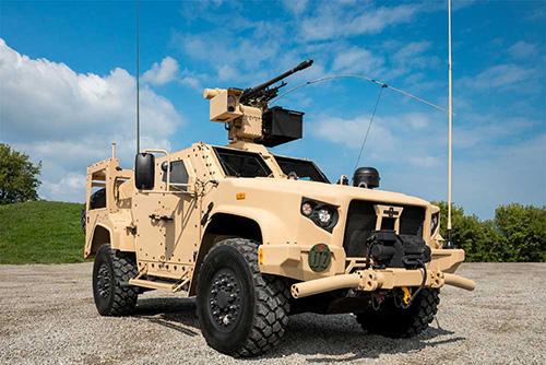 Oshkosh Defense Exhibits Joint Light Tactical Vehicle at IDEX
