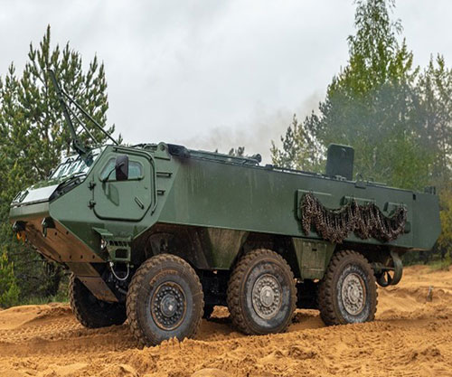 Patria Showcases 6x6 Vehicle & Other Products at DSEI