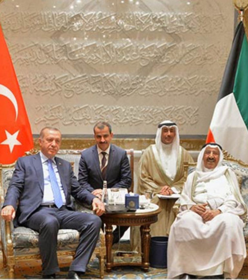Emir of Kuwait received Tuesday Turkish President Recep Tayyip Erdogan