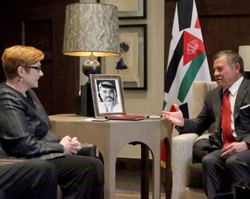 Jordanian King Meets Australian Defense Minister