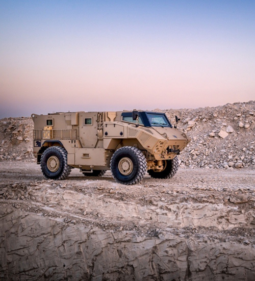 NIMR's JAIS 4x4 vehicle, one of the most advanced armoured vehicles available in the market.