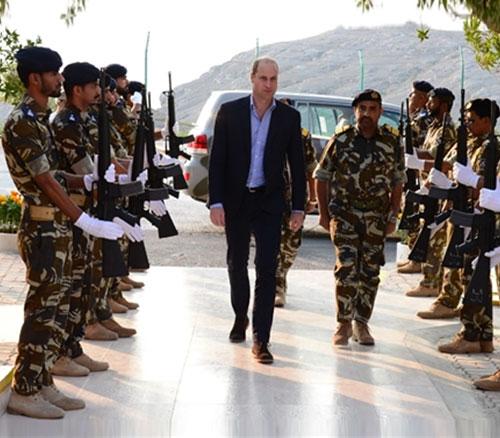 Prince Williams Visits Musandam Naval Base in Oman