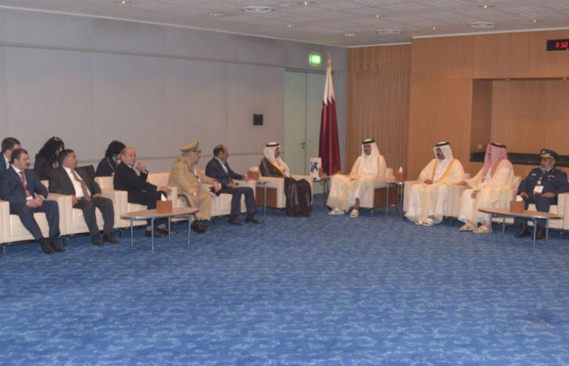 Qatar's Emir Meets Defense Ministers, Chiefs-of-Staff Attending DIMDEX