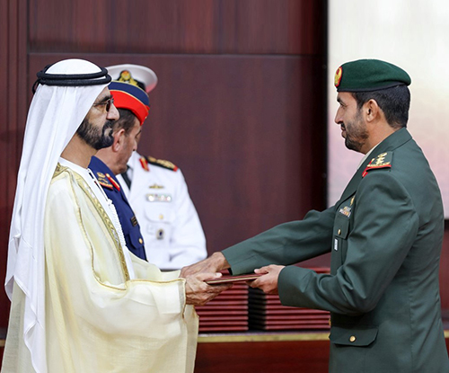 Ruler of Dubai Attends National Defense College Graduation