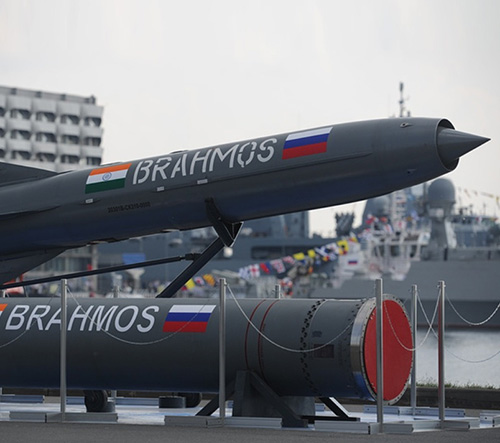 Russian-Indian PJ-10 BrahMos Supersonic Cruise Missile