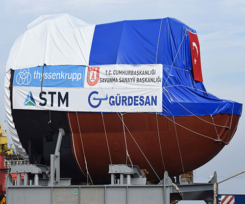 STM Delivers First Submarine Torpedo Tube Sections Produced in Turkey
