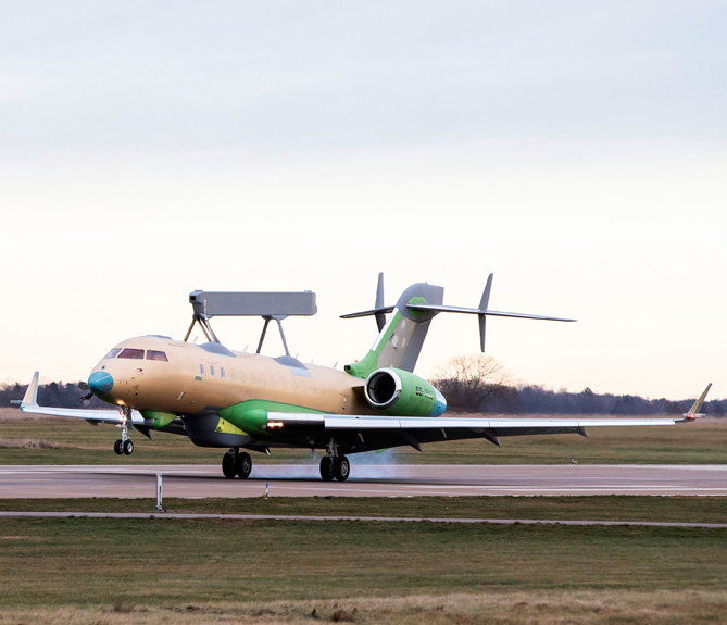 Saab Completes First Flight Test of Second GlobalEye
