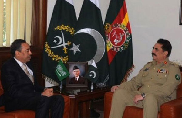 Saudi Assistant Defense Minister Meets Pakistani Army Chief