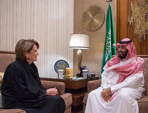 Saudi Crown Prince, Lockheed Martin CEO Discuss Military Cooperation