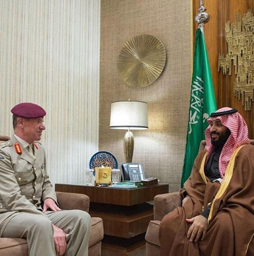 Saudi Crown Prince Meets British Defense Officials